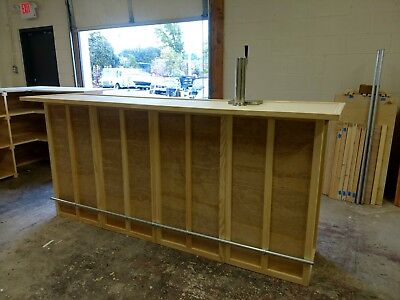 Home Bar Furniture, 72x24x42, Keg Tap, Drip Plate, Seats 3, S&H Incl, Finish Ava