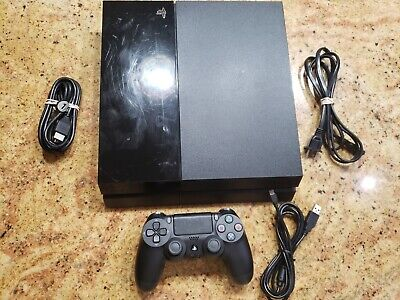 Sony PlayStation 4 PS4 Console System Bundle 500 GB with cables and 1 Controller