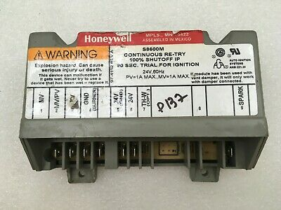 Honeywell Ignition Control Board S8600m1005 Hq1011449hw Used Free Returns P137