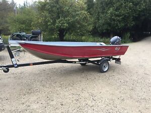 2015 boat motor and trailer