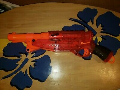 NERF N-Strike Barrel Break IX-2 Translucent Red Shotgun Dart Blaster Hasbro 2009