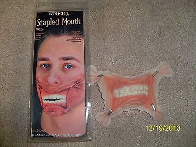 STAPLED MOUTH LATEX PROSTHETIC GORY GROSS COSTUME MAKEUP APPLIANCE CSWO306 - Halloween Gross Makeup