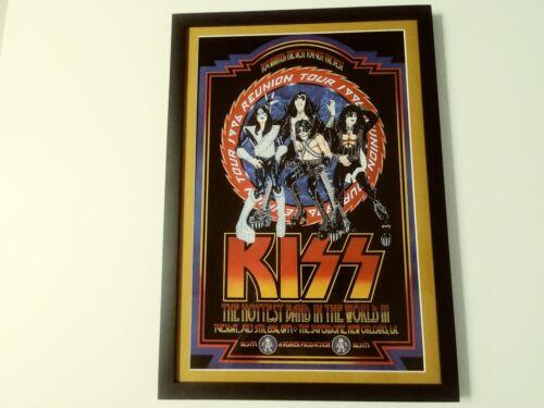 KISS, 1996 REUNION TOUR POSTER! 13x19...Newly Framed.