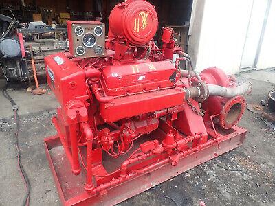 Fairbanks Morse 8 Fire Pump Runs Exc Cummins V504 Diesel 120 Psi 1500 Gpm