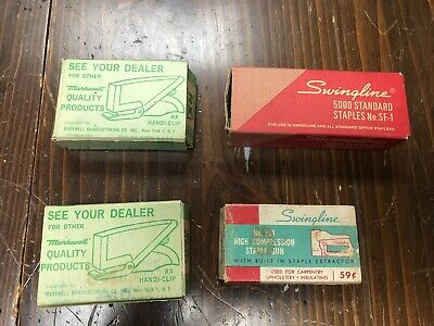 Lot Of Vintage Staples - Swingline 516 Markwell Rx 316 Partially Used