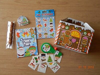 Christmas Party Activities (Pre Filled Christmas Party Box! Xmas eve Party Activity Gift Bag Stocking)