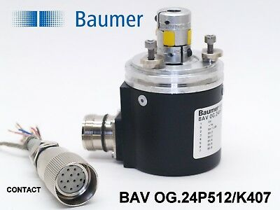 Baumer Ch-8500 Bav Og.24p512k407 Absolute Encoder W Connector And Coupling