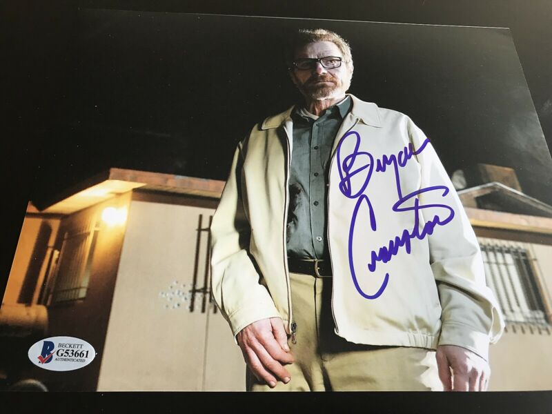 BRYAN CRANSTON SIGNED AUTOGRAPH 8x10 PHOTO BREAKING BAD BECKETT BAS COA AUTO D