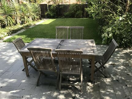 Teak Outdoor Table   Hamptons Greyed Look Part 60