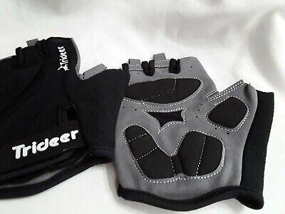 Trideer Ultra Light Cycling Half Finger Gloves Black Men/Women M (7.0-8.0) NEW](Light Finger Gloves)
