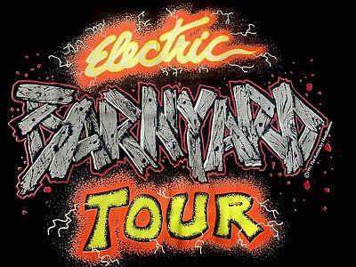 1991 The KENTUCKY HEADHUNTERS Electric BARNYARD LOCAL Crew Tour T-shirt XL