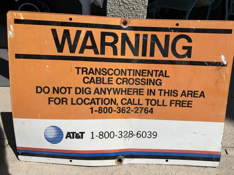 AT&T TRANSCONTINENTAL CABLE sign