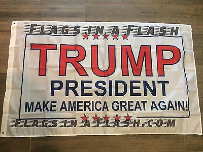 10 PRESIDENT TRUMP INAUGURATION FLAGS FLAG MAKE AMERICA GREAT AGAIN  DONALD