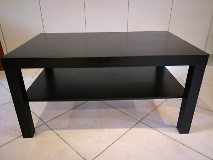 Ikea coffee table & side table black brown