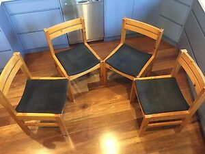 Four wooden chairs - $30 each Marrickville Marrickville Area Preview