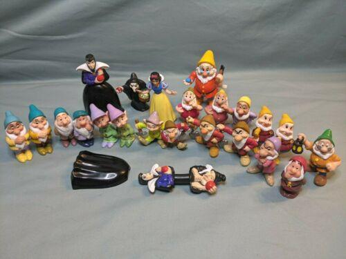 Disney Snow White & the Seven Dwarfs PVC Figures - 1993 Mattel, Misc Lot Of 21