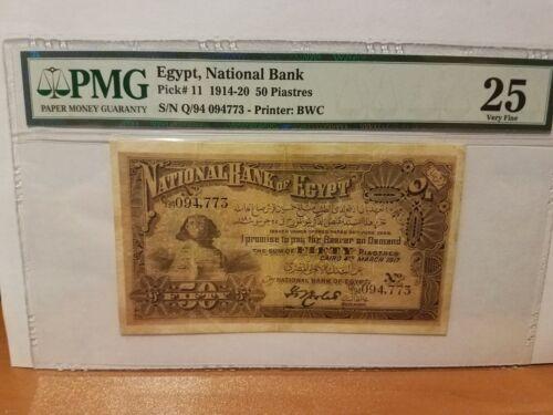Egypt 50 Piastres  Pmg 25