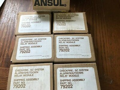 Ansul 79202 Checkfire Sc System Alarmshutdown Relay Modules