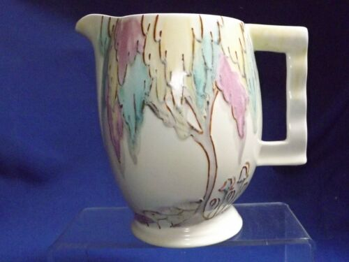 """Vintage Carlton Ware Art Pottery RARE Art Deco Weeping Tree 6"""" Tall Pitcher FINE"""