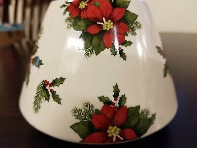 Yankee Candle Original Jar Topper Christmas Poinsettia Winter Holiday Home