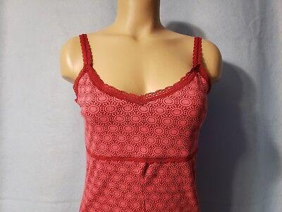 Girls Ribbed Tank (NEW Aeropostale Junior Girls Pin & Red Ribbed, Lace Tank Top Shirt XL X-Large)