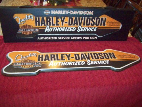 """New Harley Davidson Authorized Service Sign 31.5"""" Long Game Room Man Cave Garage"""