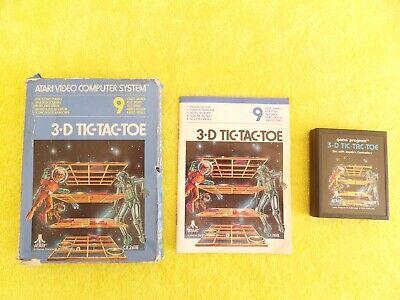 3-D TIC-TAC-TOE - atari 2600 VCS - CX2618 cart
