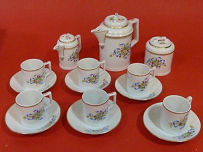 15 Teile Mocca Service Porzellan Höchst Kaffeservice Kaffeekanne Zuckerdose