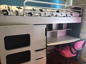Bunk bed with Desk Caulfield South Glen Eira Area Preview