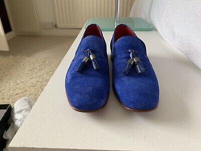 Jeffery West Size 10 Blue Suede Tassle Muse Loafer