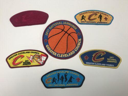 Greater Cleveland Council, Ohio 2017 National Scout Jamboree 6 Patch JSP Set