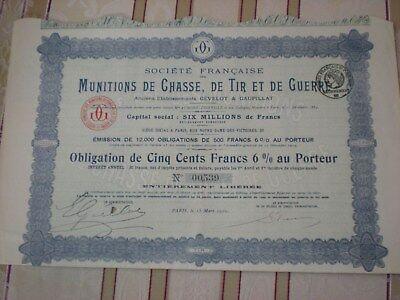 Frankreich -  2  x  Munitions de Chasse, de Tir et de Guerr  3/97