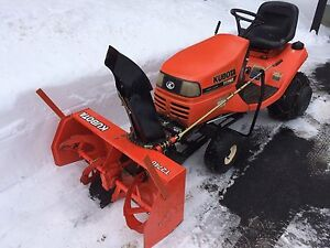 Kubota T1760 Lawn Tractor with Snowblower for Sale - Reduced