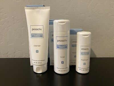 New Proactiv Solution Extra Strength Formula Complete Kit Set 60 Day Supply Acne