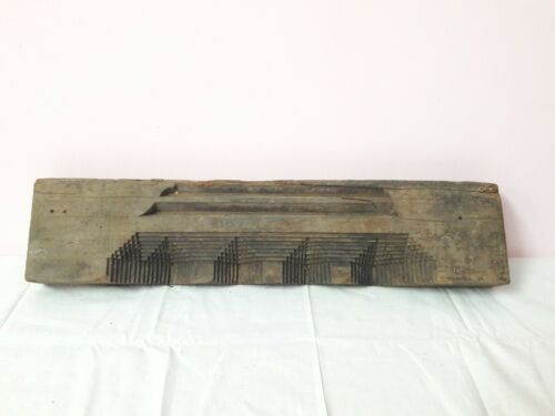 Antique Solid Beam Plaque Pillar Vintage Door Window Wooden Wall Panel A61