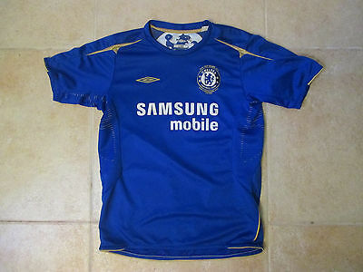 VINTAGE UMBRO CHELSEA SAMSUNG SEWN SOCCER/FOOTBALL YOUTH LARGE JERSEY 2006 image