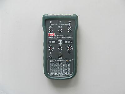New Mastech Ms5900 Motor 3- Phase Rotation Indicator Meter W Case Bag