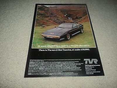 TVR Tasmin  -  Advertisement  -  1982