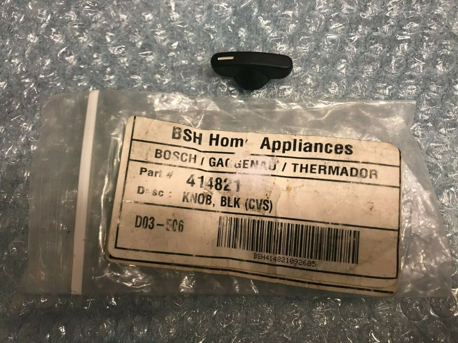 Bosch Thermador Cooktop Element Range Knob Black, Genuine OE
