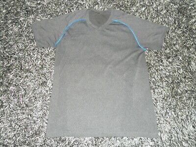 Lululemon Men's L/Large Metal Vent Tech Grey V Neck Short Sleeve Shirt