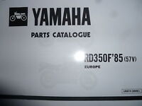 Yamaha Rd 350 Lc F1 Ypvs 57v Parts List Manual Catalogue N1 Rz 350 - yamaha - ebay.co.uk