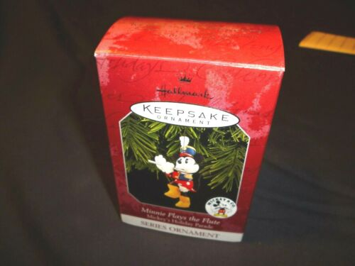 "Disney Hallmark Keepsake ""Minnie Plays the Flute"" Mickeys Holiday Parade 1998 82"