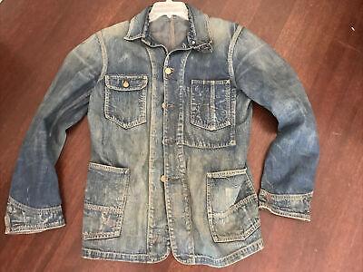 Polo doubel rl RRL Men Jean Jacket Faded Denim new rare Size m VINTAGE coat