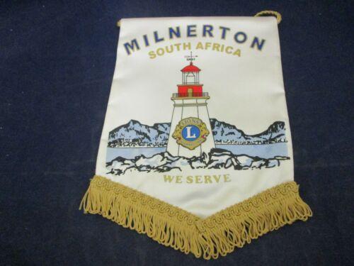 Vintage Lions Club International Banner Flag Milnerton South Africa WE SERVE