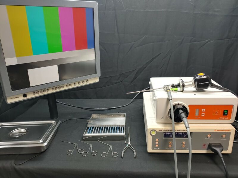 Smith & Nephew ENT Complete System 560 HD Camera LED 3000 w Monitor & Much More