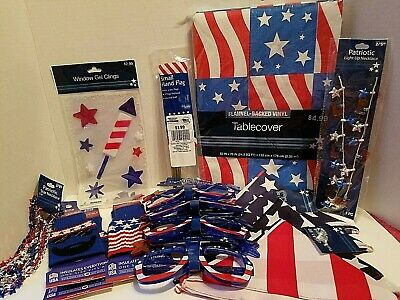 4th of July Celebration In A Box Patriotic Lot of 18 Family Fun Party - Halloween Party In A Box