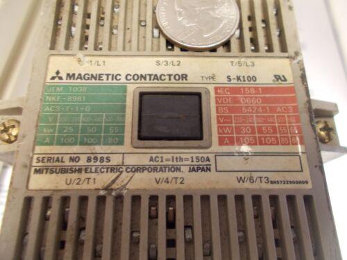 Mitsubishi MAGNETIC CONTACTOR S-K100 Contactor
