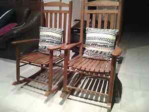 Large wooden rocking chair in excell. Con Normanhurst Hornsby Area Preview