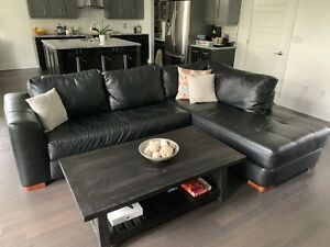 Sectional Leather (faux) Couch