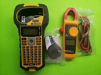 Brady Bmp21-plus Fluke 323 Handheld Label Printer And Electrical Meter. Used.